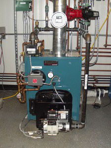 An oil heating system installed in a Western PA home